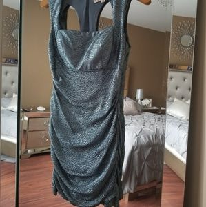 Haley Logan Blue Silver Shimmer Dress